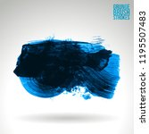 blue brush stroke and texture.... | Shutterstock .eps vector #1195507483