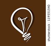 light bulb vector on brown...   Shutterstock .eps vector #119551540