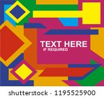 colorful geometric background... | Shutterstock .eps vector #1195525900
