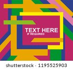 colorful geometric background... | Shutterstock .eps vector #1195525903