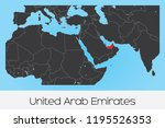 an illustrated country shape of ... | Shutterstock .eps vector #1195526353