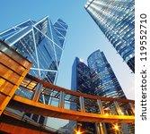 modern office buildings in... | Shutterstock . vector #119552710