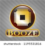 gold emblem or badge with... | Shutterstock .eps vector #1195531816