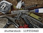 set of different tools on... | Shutterstock . vector #119553460