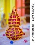 indian hindu wedding ritual item | Shutterstock . vector #1195536469