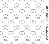 jack o lantern elements... | Shutterstock . vector #1195538050