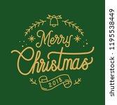 merry christmas 2018 greeting...   Shutterstock .eps vector #1195538449