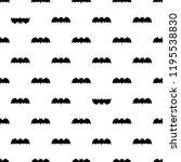 seamless pattern with bats.... | Shutterstock . vector #1195538830
