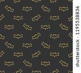 seamless pattern with bats.... | Shutterstock . vector #1195538836