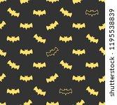 seamless pattern with bats.... | Shutterstock . vector #1195538839