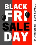 black friday poster design with ... | Shutterstock . vector #1195539520