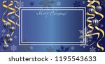 horizontal holiday illustration ... | Shutterstock .eps vector #1195543633