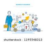 business to business  e... | Shutterstock . vector #1195548313