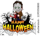happy halloween  design... | Shutterstock .eps vector #1195550800