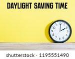 daylight saving time written on ... | Shutterstock . vector #1195551490