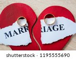 divorce and separation concept. ... | Shutterstock . vector #1195555690