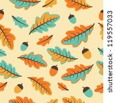 seamless autumn background with ... | Shutterstock .eps vector #119557033
