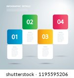 square info graphic vector... | Shutterstock .eps vector #1195595206