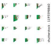 algeria flag  vector... | Shutterstock .eps vector #1195598860