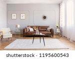minimal interior design of... | Shutterstock . vector #1195600543