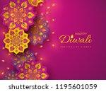 diwali festival holiday design... | Shutterstock .eps vector #1195601059