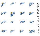 uruguay flag  vector...   Shutterstock .eps vector #1195602436