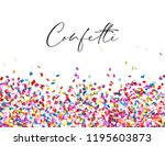 celebration confetti background | Shutterstock .eps vector #1195603873