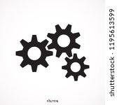 growing gears icon isolated on... | Shutterstock .eps vector #1195613599