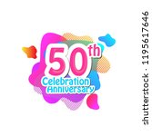 50 th logo anniversary and icon ... | Shutterstock .eps vector #1195617646