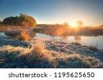 autumn landscape. autumn nature.... | Shutterstock . vector #1195625650
