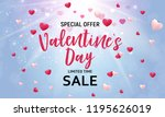 valentine's day love and... | Shutterstock .eps vector #1195626019