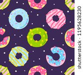 seamless pattern with color... | Shutterstock .eps vector #1195628230