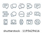 chat and message line icons....