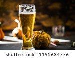 Glass Of Golden Beer On Dark ...