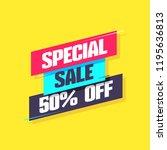special sale 50  off label | Shutterstock .eps vector #1195636813