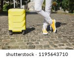 cropped image traveler tourist... | Shutterstock . vector #1195643710