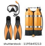 vector realistic diver... | Shutterstock .eps vector #1195645213