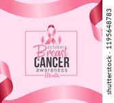 banner for breast cancer... | Shutterstock .eps vector #1195648783
