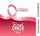 banner for breast cancer... | Shutterstock .eps vector #1195648816