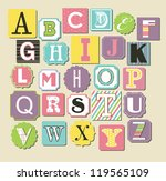 cute alphabet design. vector... | Shutterstock .eps vector #119565109