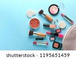 set of decorative cosmetics... | Shutterstock . vector #1195651459