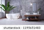 modern loft bathroom interior... | Shutterstock . vector #1195651483