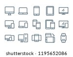 device line icons. vector... | Shutterstock .eps vector #1195652086