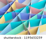 colorful paper stripes pattern. ... | Shutterstock . vector #1195653259