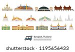 bangkok in thailand and... | Shutterstock .eps vector #1195656433