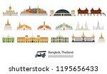 bangkok in thailand and... | Shutterstock .eps vector #1195656433
