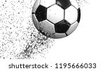 one soccer ball of silver... | Shutterstock . vector #1195666033