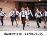 group of high school students... | Shutterstock . vector #1195676080