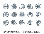globe and world line icons....