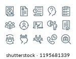 human resource line icons....